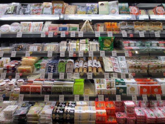 仙台三越の納豆棚