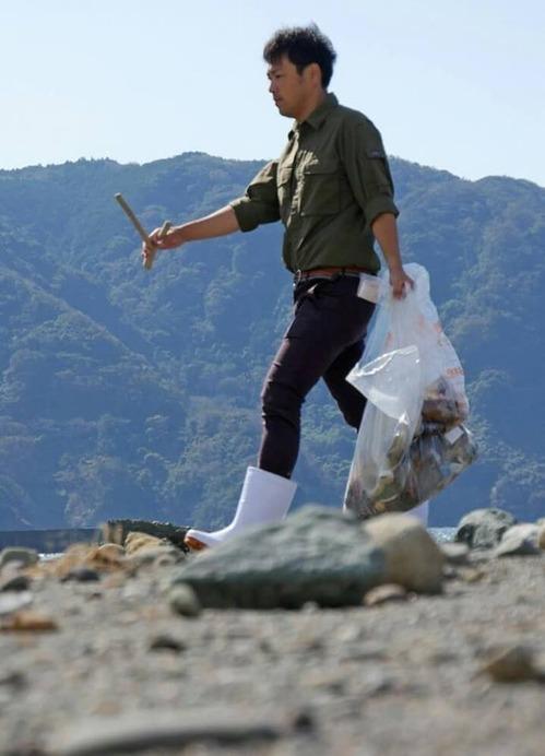 ゴミ拾いのキーマン、松浦城太郎。