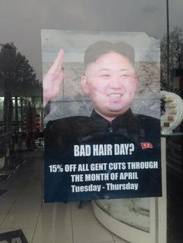 金正恩のポスターを掲示して北朝鮮大使館から抗議されたロンドン郊外の理髪店に行ってきました