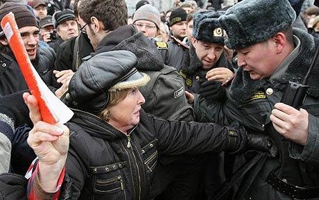 ロシアで大規模抗議集会