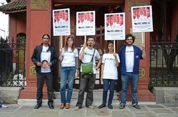ビルマに自由を!!ビルマの民主化を求める世界同時行動(パリより)