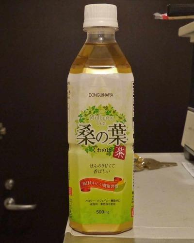 今日の飲み物 何処と無く韓流の匂いが漂う&韓流という文字を見てネトウヨ大爆発の予感がするアイリスオーヤマ発売の「桑の葉茶」