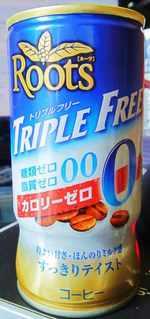 今日の飲み物 Roots TREPLE FREEカロリー0