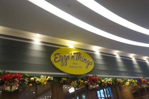 たまに行くならこんな店 パンケーキ二郎と言われるEggs'n thingsの銀座店は銀座一等地のキラリトギンザ内にあり、混雑具合もそれほどでもないので穴場なお店です