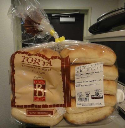 たまに買うならこんな商品 TORTA SANDWICH ROLL(コストコ社プライベートブランド製品)