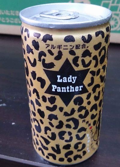 今日の飲み物 大阪のオバちゃんを思い出すデザインの缶に入った「レディパンサー」はスッキリ&体がカッカするエナジードリンクでした