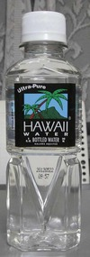 今日の水 Ultra-Pure HAWAII WATHER BOTTLED WATHER