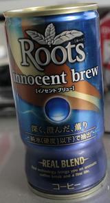 今日の飲み物 Roots innosent brew(缶コーヒー)