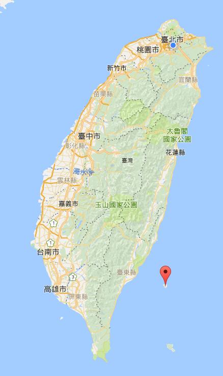 緑島の位置