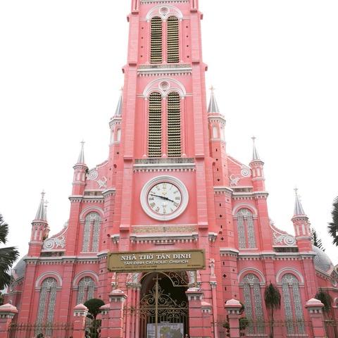 ホーチミンのピンクの教会