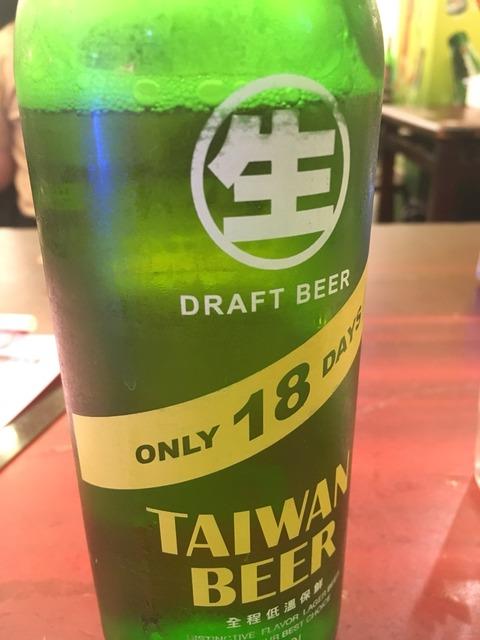 熱炒のビール