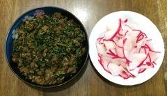 赤カブ料理