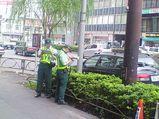 五反田で見かけた駐車監視員。昨日のガイヤは面白かった。