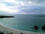 ホテルの部屋からみた海
