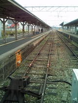 列車が来なくなった播但線ホーム