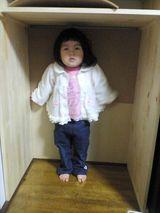棚の下にはhinaがすっぽり入る