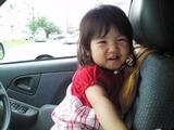 運転席でご満悦のhina