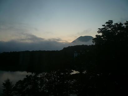 阿寒湖 日の出