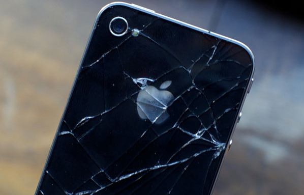 Shattered-iPhone-4-Back-Glass-Pane