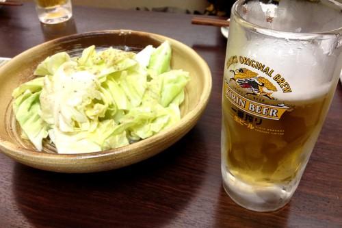 キャベツとビール