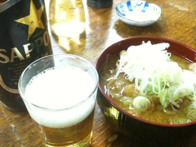 生ビールブログ -とりあえず生!--渋谷 富士屋本店 煮込み&ビール