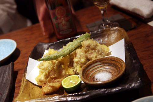越乃鶏の天ぷら