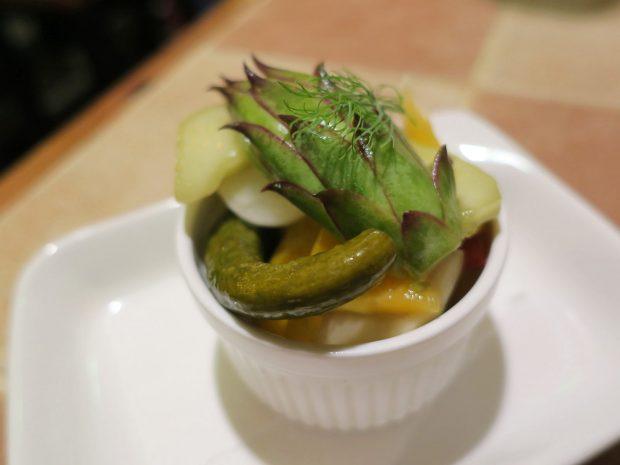 県産野菜のピクルス(380円)