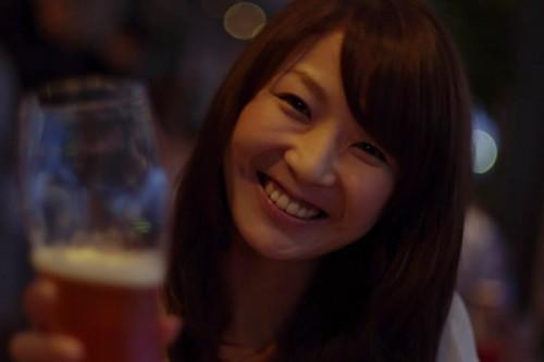 麦酒×美人 可南子さん 乾杯!