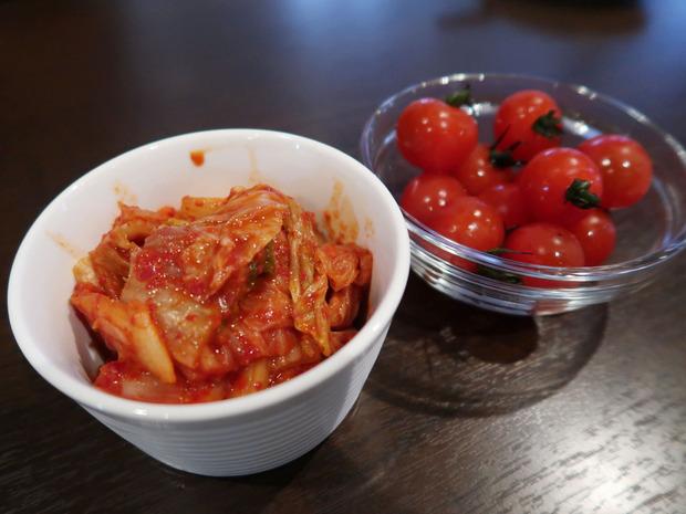 ミニトマトとキムチ