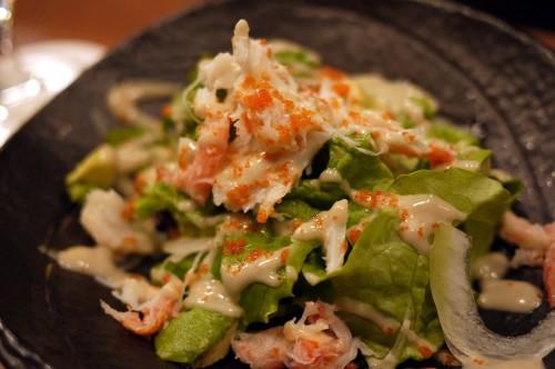 蟹を使ったサラダ