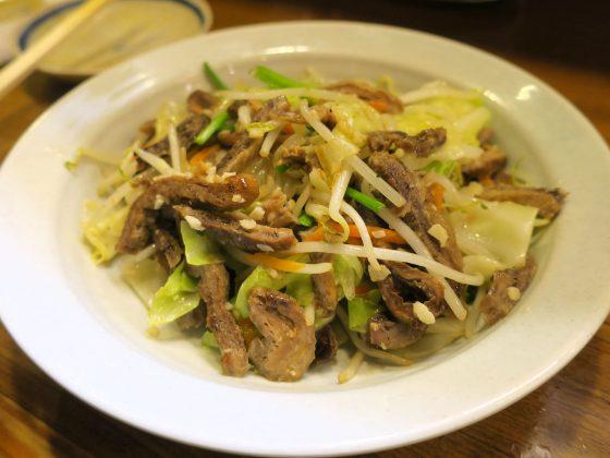 マグロの胃のガーリック炒め(580円)