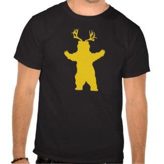 シカくま-ハイイログマを恐れて下さい T シャツ
