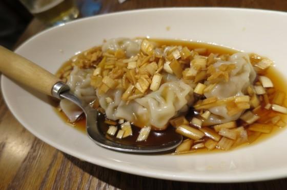 生姜ネギダレ餃子