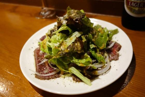 牛肉のたたき カルパッチョ仕立て(650円)