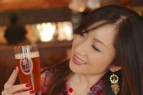 ビールと笑顔