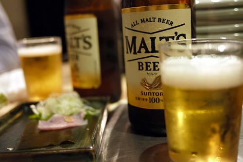 瓶ビールはモルツ