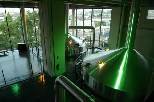 ビールを醸造する釜