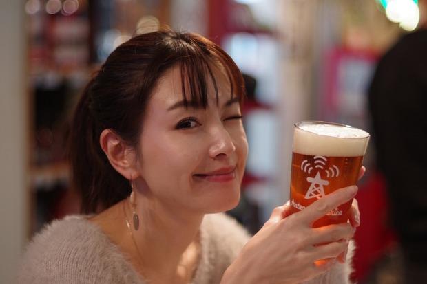 ビールとポーズ