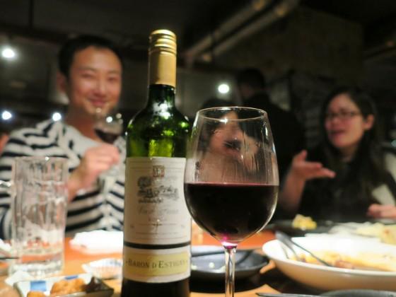 ワインをボトルで…