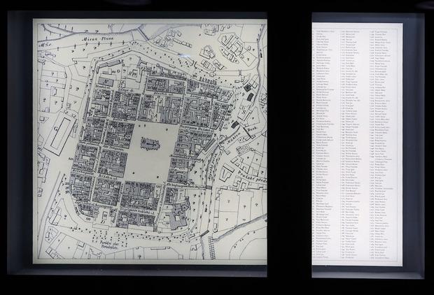 プルゼニュの昔の地図