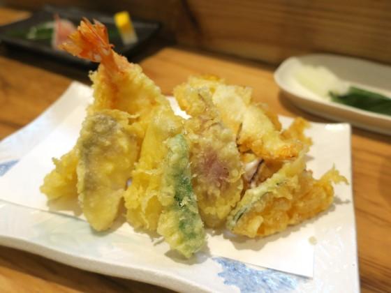 天ぷら盛り合わせ(1,200円)