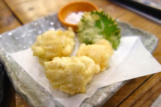 白子の天ぷら(650円)