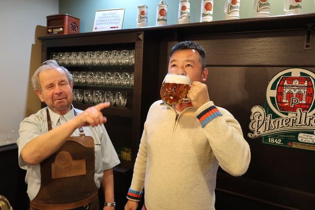 自分で注いだビールがうまい!