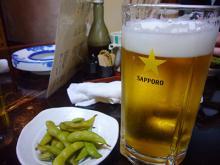 押上まるい ビールと枝豆
