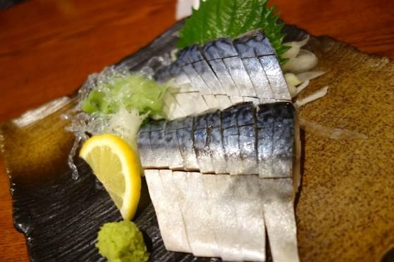 〆鯖の刺身