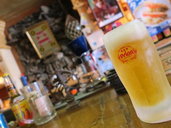 カフェ オーシャン でオリオンビール