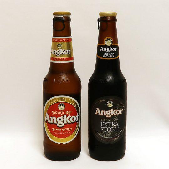 カンボジア Angkor Beer & EXTRA STOUT