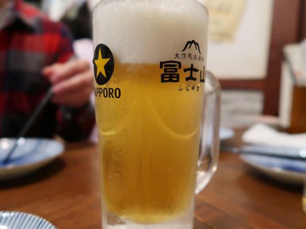 ビールはサッポロ黒ラベル