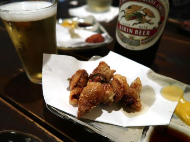 鶏かわぎょうざ(480円)