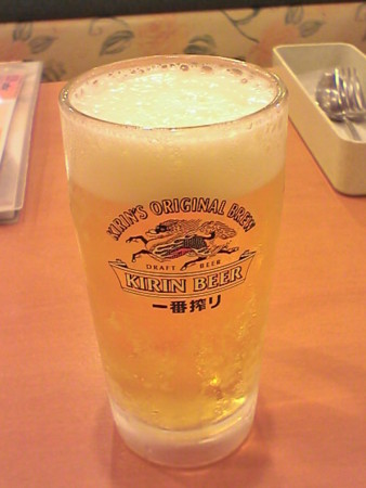 生ビールinデニーズ